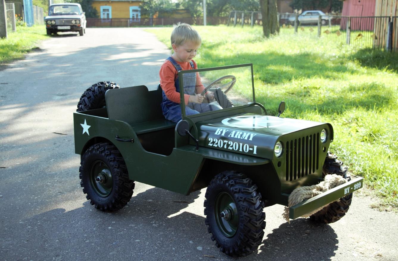 Детский автомобиль на бензине своими руками
